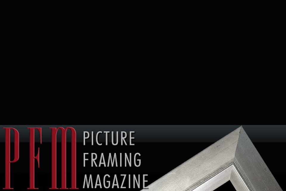 Our publication in  Picture Framing magazine